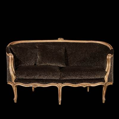 A lacquered and gilded wood sofa, Genova, Italy, middle of 18th century